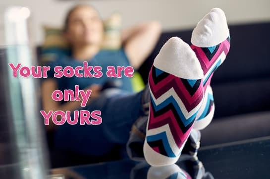 Do not share socks